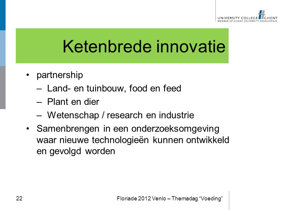 Ketenbrede innovatie partnership Land- en tuinbouw, food en feed