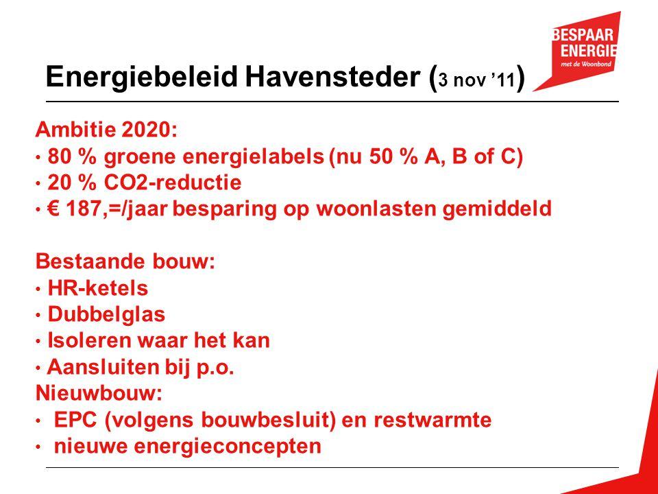 Energiebeleid Havensteder (3 nov '11)