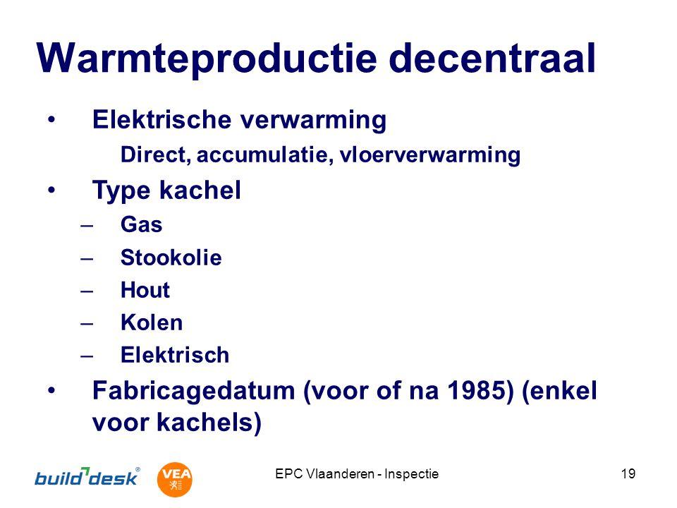 Warmteproductie decentraal