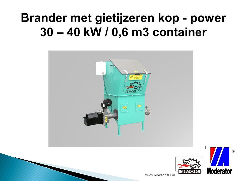 Brander met gietijzeren kop - power 30 – 40 kW / 0,6 m3 container