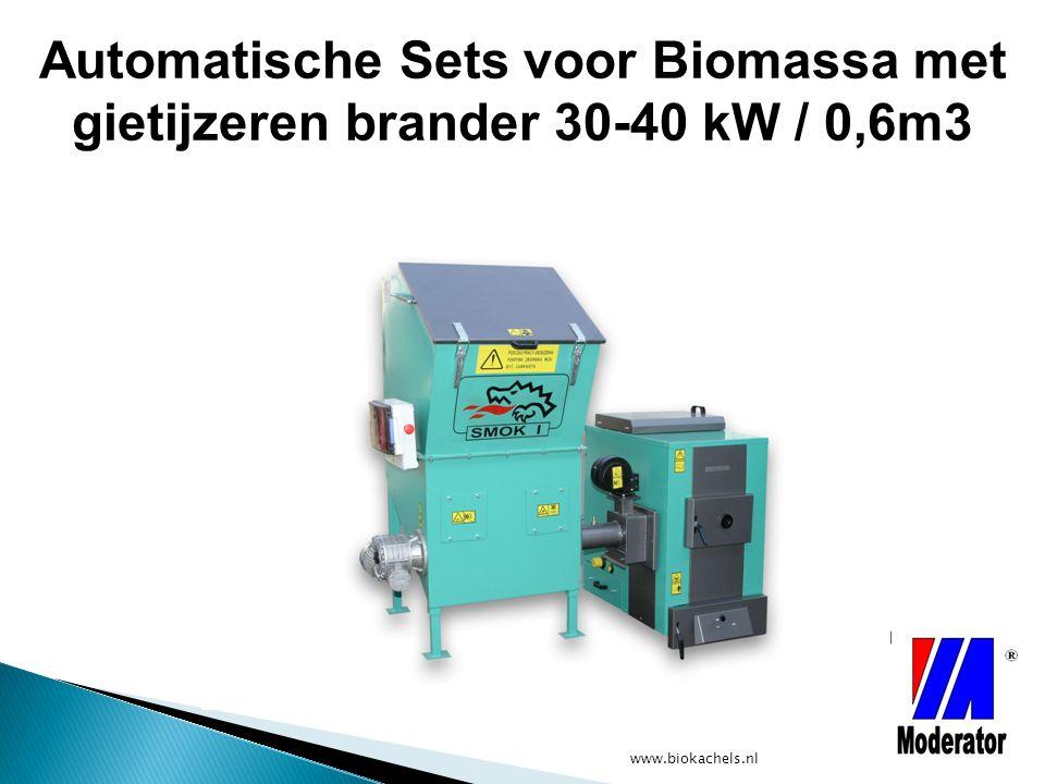 Automatische Sets voor Biomassa met gietijzeren brander 30-40 kW / 0,6m3