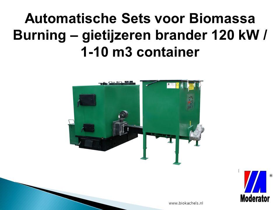 Automatische Sets voor Biomassa Burning – gietijzeren brander 120 kW / 1-10 m3 container