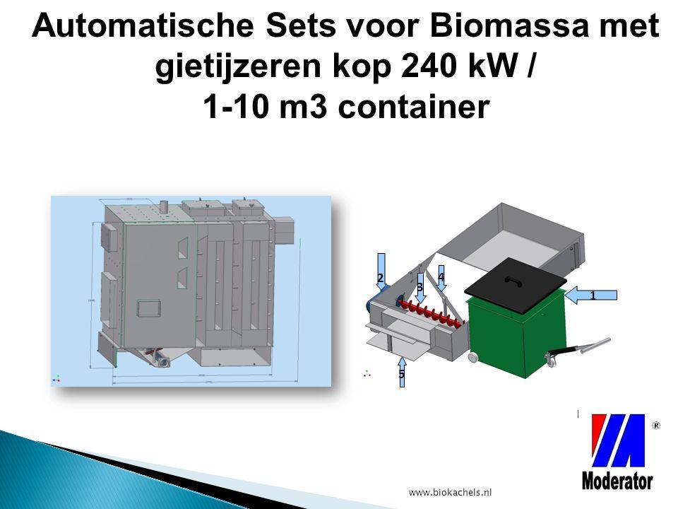 Automatische Sets voor Biomassa met gietijzeren kop 240 kW / 1-10 m3 container