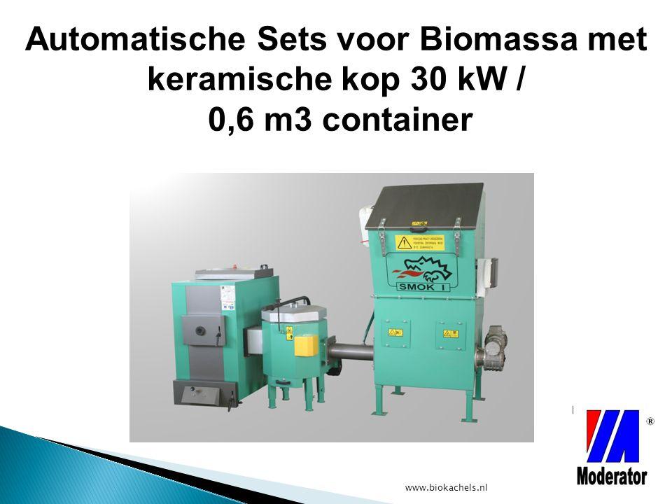 Automatische Sets voor Biomassa met keramische kop 30 kW / 0,6 m3 container
