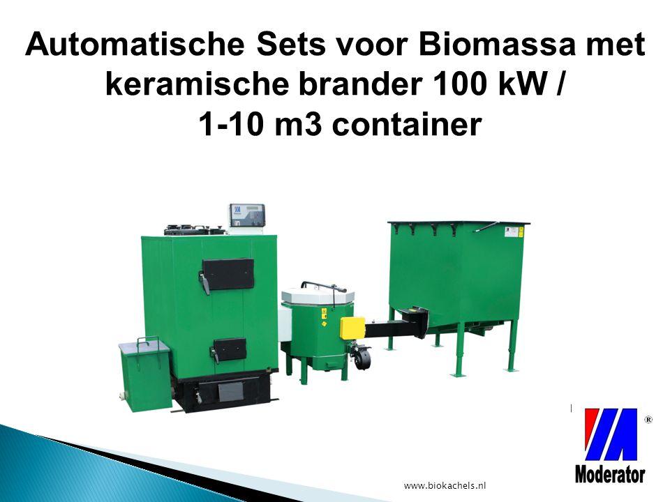 Automatische Sets voor Biomassa met keramische brander 100 kW / 1-10 m3 container