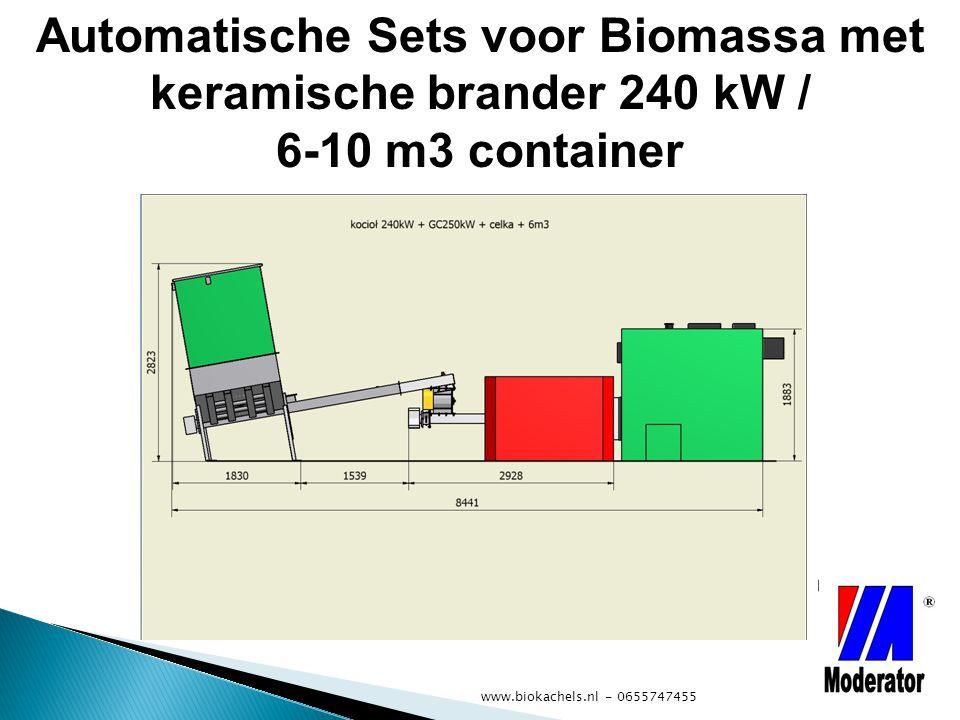 Automatische Sets voor Biomassa met keramische brander 240 kW / 6-10 m3 container