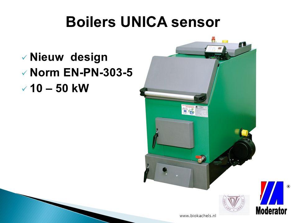 Boilers UNICA sensor Nieuw design Norm EN-PN-303-5 10 – 50 kW