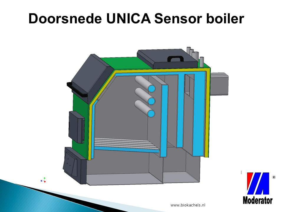 Doorsnede UNICA Sensor boiler
