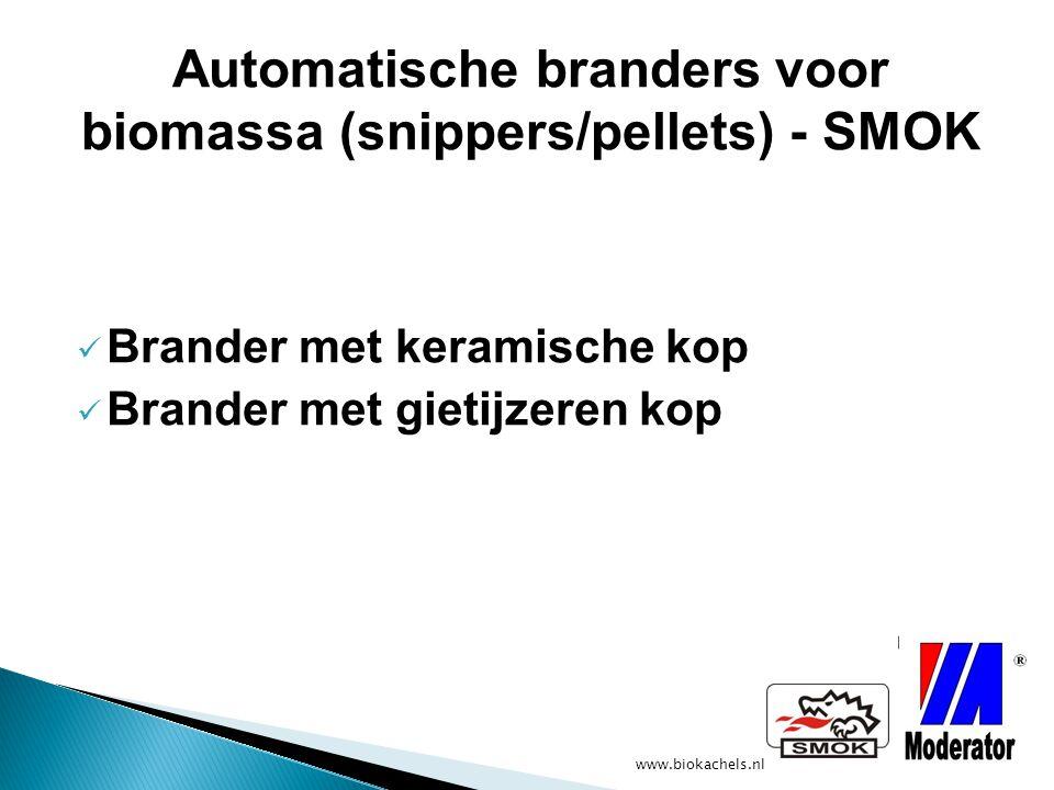 Automatische branders voor biomassa (snippers/pellets) - SMOK