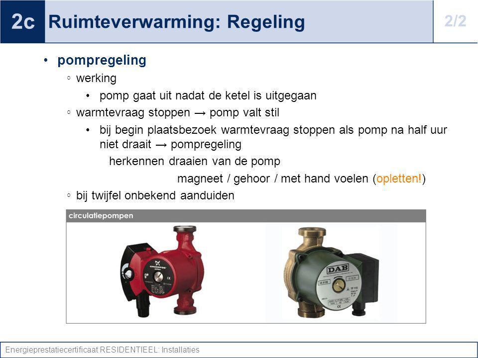 Ruimteverwarming: Regeling