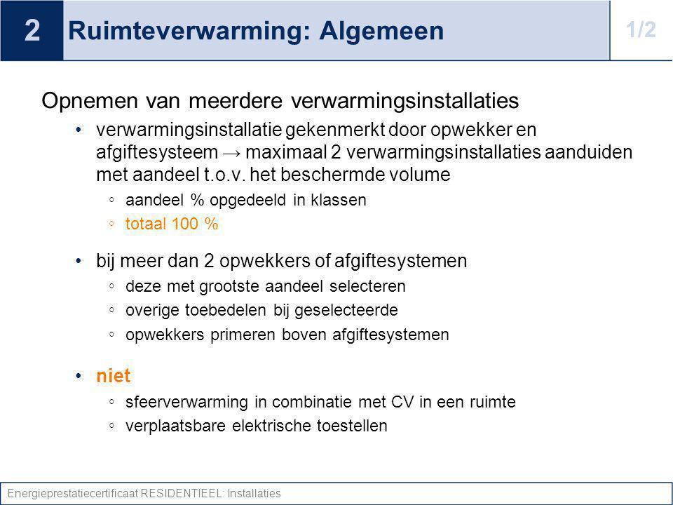 Ruimteverwarming: Algemeen