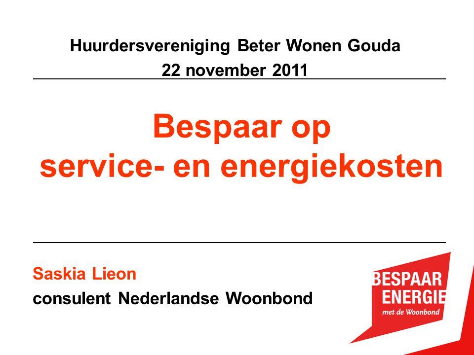 Huurdersvereniging Beter Wonen Gouda service- en energiekosten
