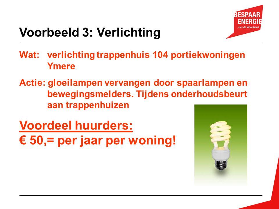 Voorbeeld 3: Verlichting