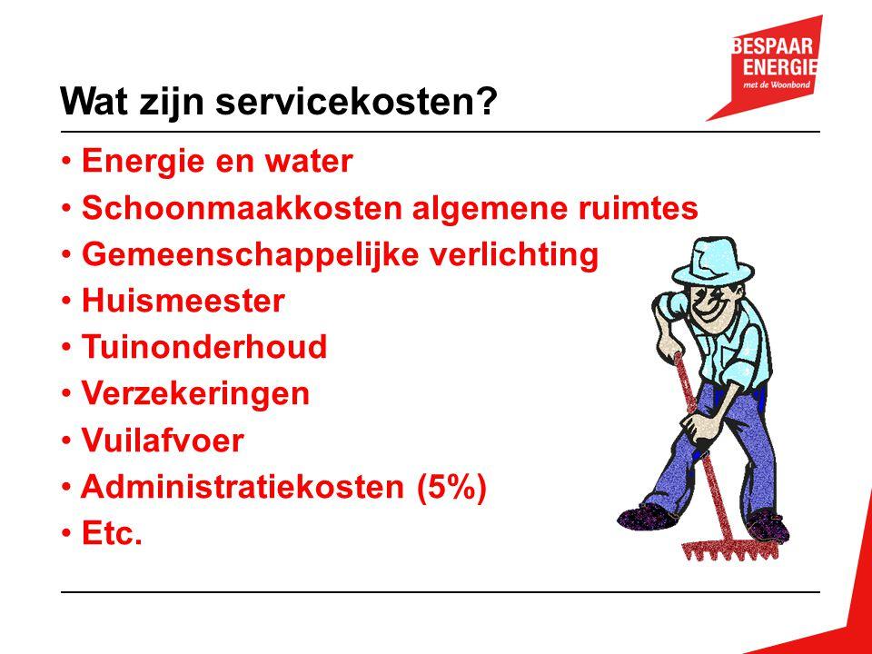 Wat zijn servicekosten