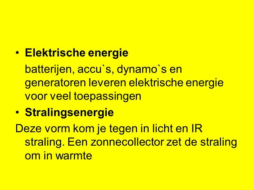 Elektrische energie batterijen, accu`s, dynamo`s en generatoren leveren elektrische energie voor veel toepassingen.