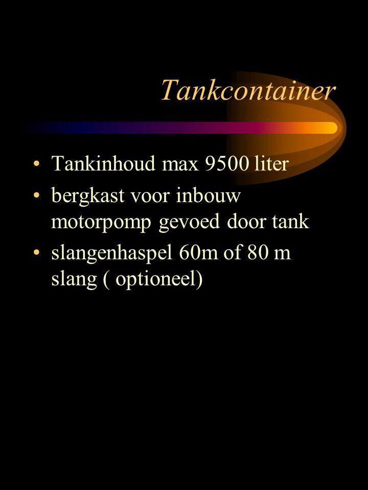 Tankcontainer Tankinhoud max 9500 liter