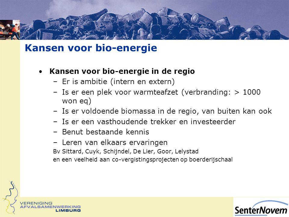 Kansen voor bio-energie