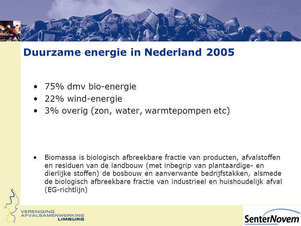 Duurzame energie in Nederland 2005