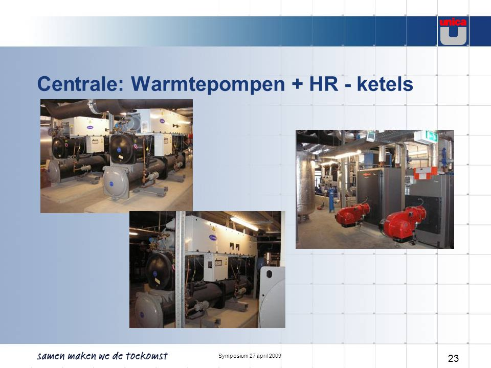 Centrale: Warmtepompen + HR - ketels
