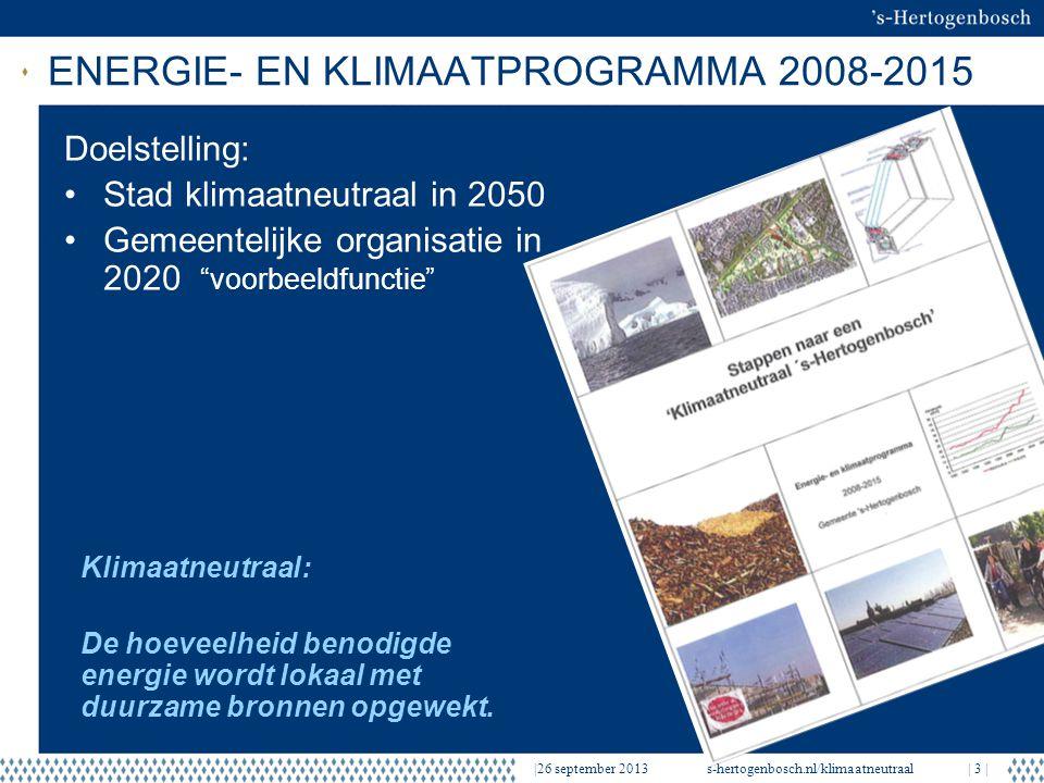 ENERGIE- EN KLIMAATPROGRAMMA 2008-2015