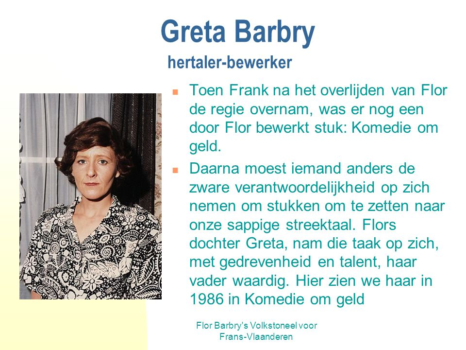 Greta Barbry hertaler-bewerker