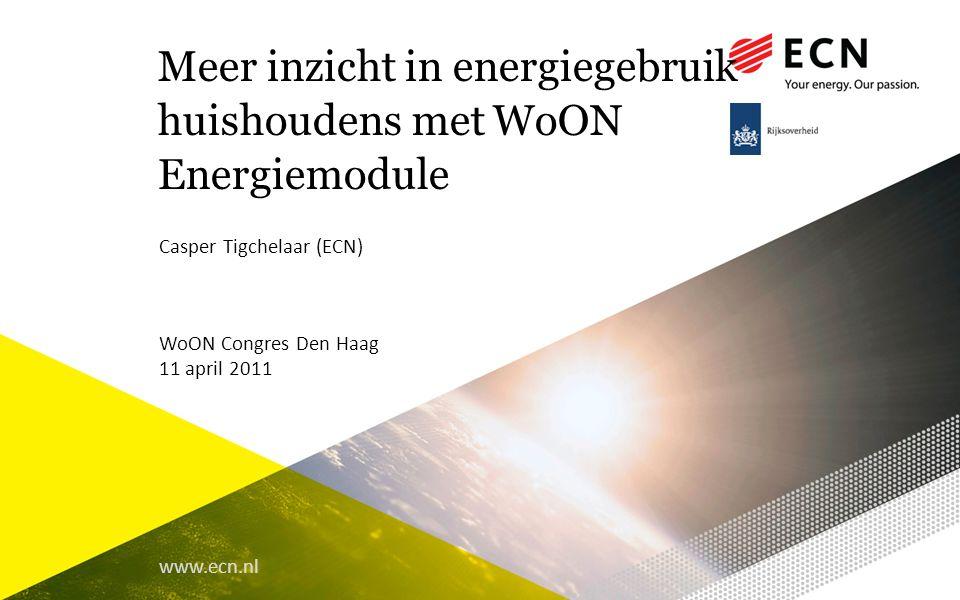 Meer inzicht in energiegebruik huishoudens met WoON Energiemodule