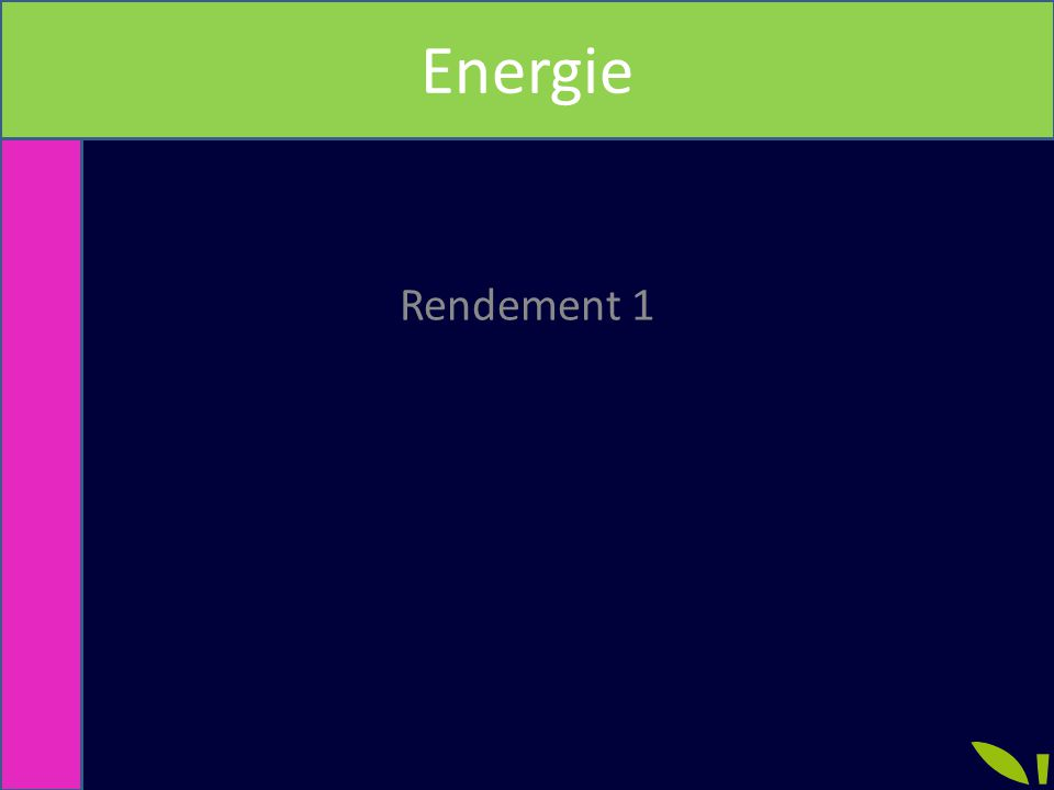 Energie Rendement 1