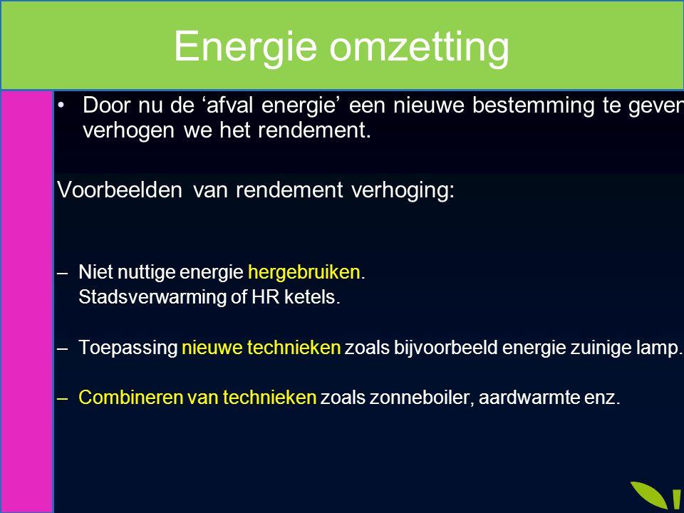 Energie omzetting Verhogen rendement.
