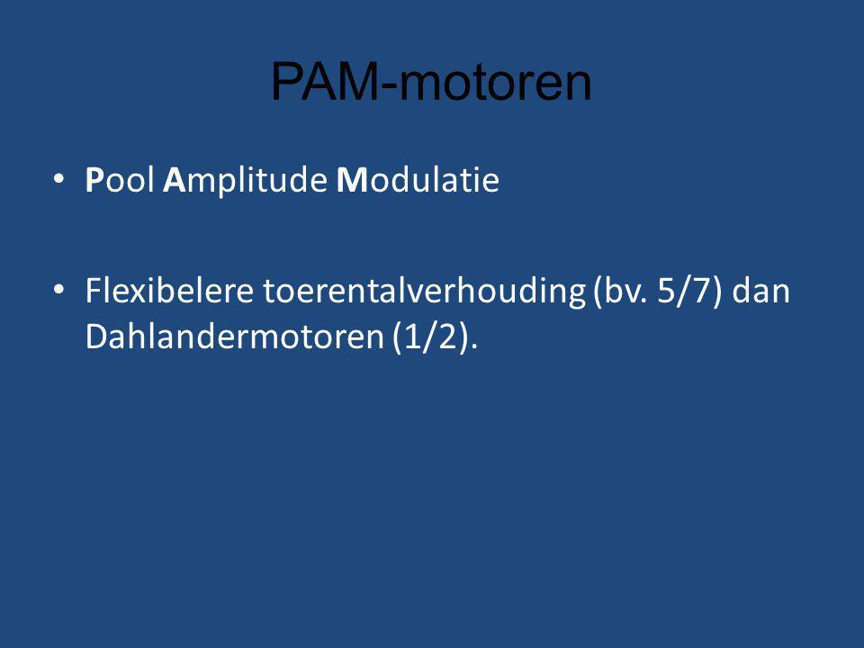 PAM-motoren Pool Amplitude Modulatie