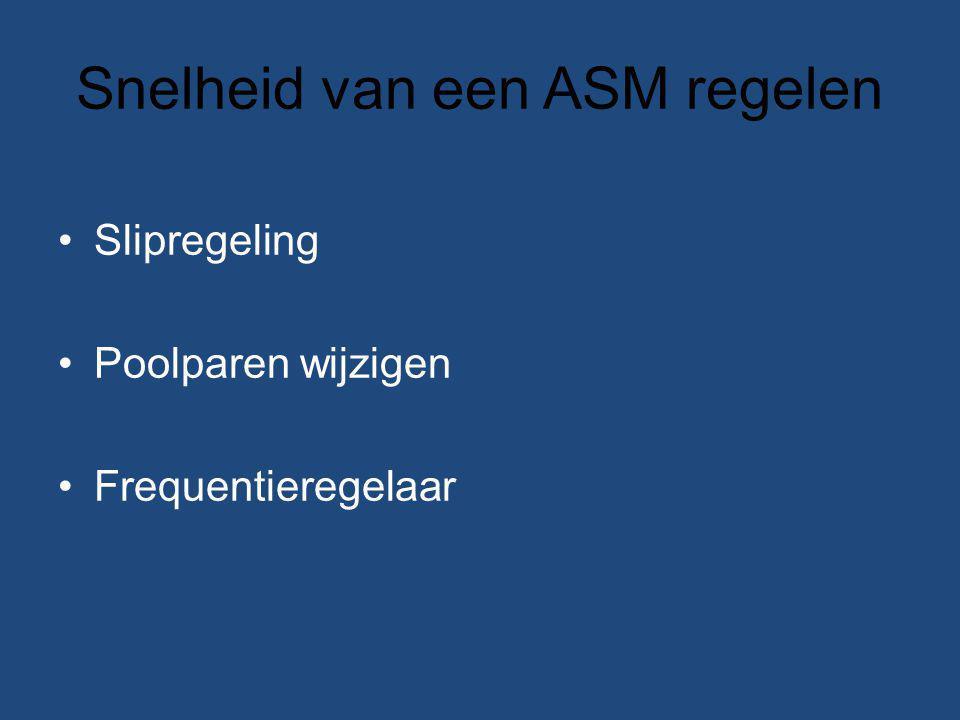 Snelheid van een ASM regelen