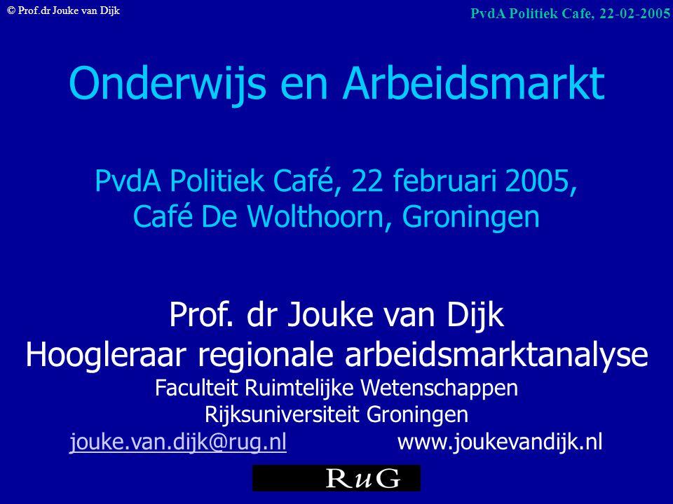 Onderwijs en Arbeidsmarkt PvdA Politiek Café, 22 februari 2005, Café De Wolthoorn, Groningen