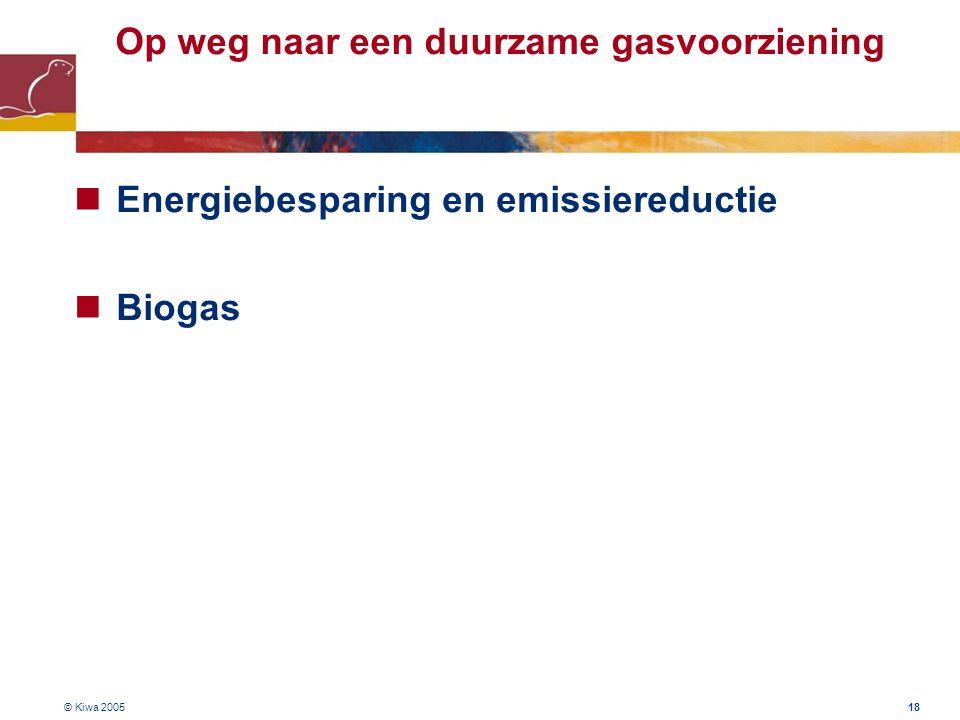 Op weg naar een duurzame gasvoorziening