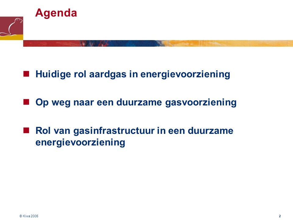 Agenda Huidige rol aardgas in energievoorziening