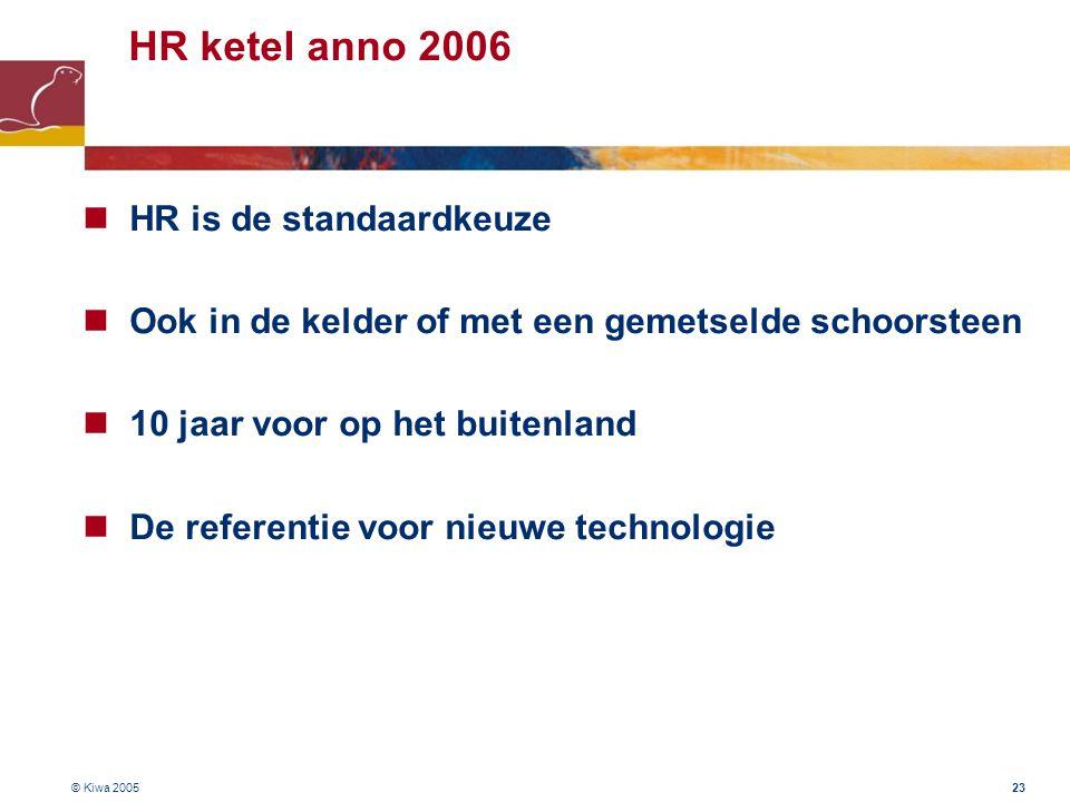 HR ketel anno 2006 HR is de standaardkeuze