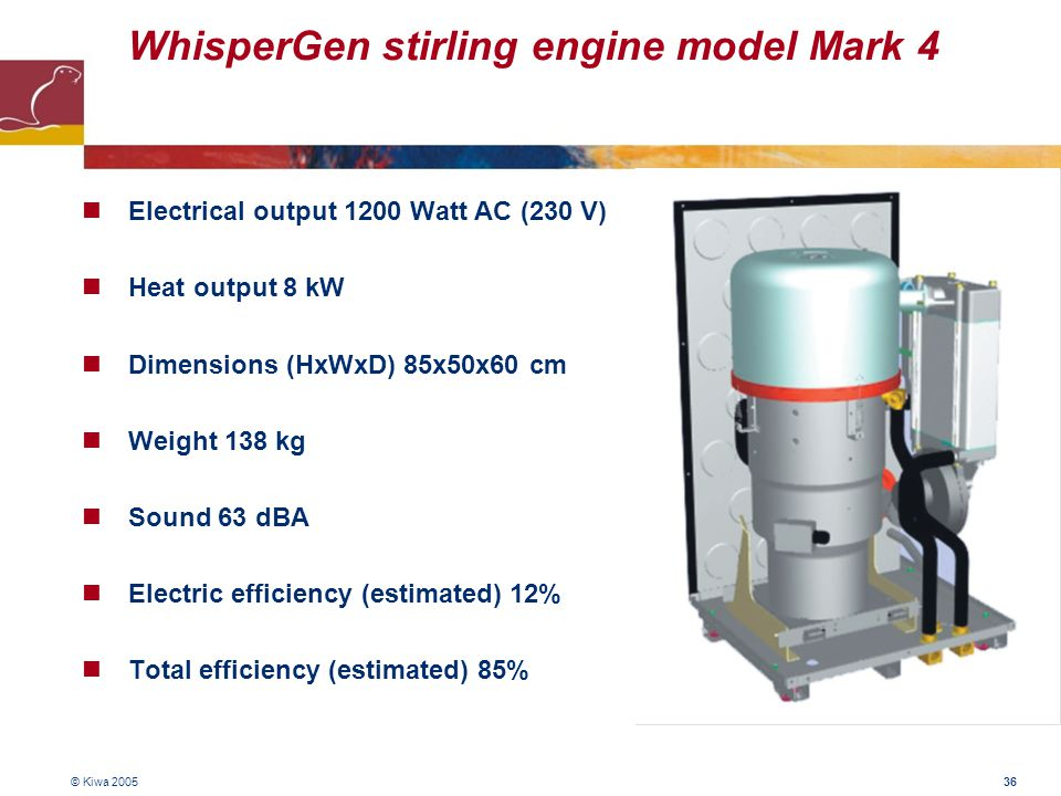 WhisperGen stirling engine model Mark 4