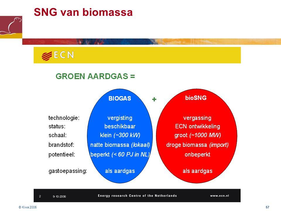 SNG van biomassa © Kiwa 2005
