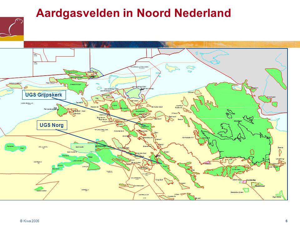 Aardgasvelden in Noord Nederland