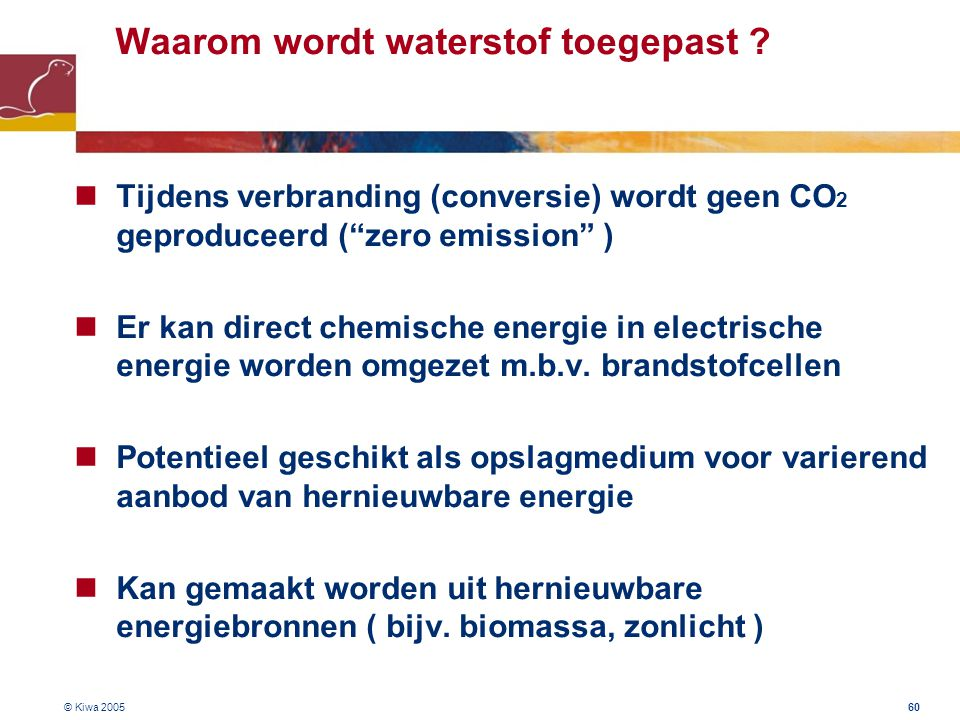 Waarom wordt waterstof toegepast