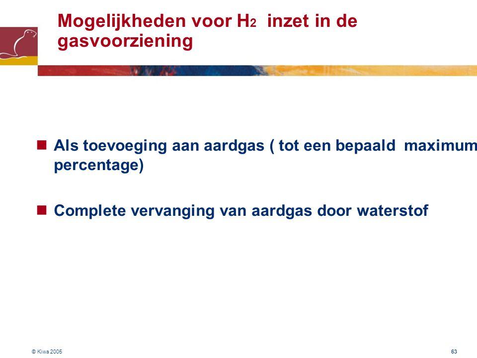 Mogelijkheden voor H2 inzet in de gasvoorziening