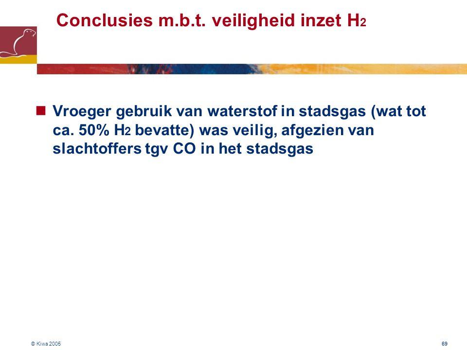 Conclusies m.b.t. veiligheid inzet H2