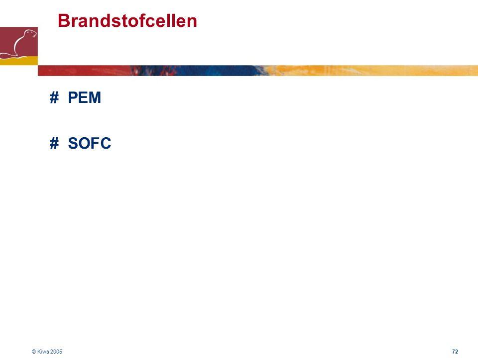 Brandstofcellen # PEM # SOFC © Kiwa 2005