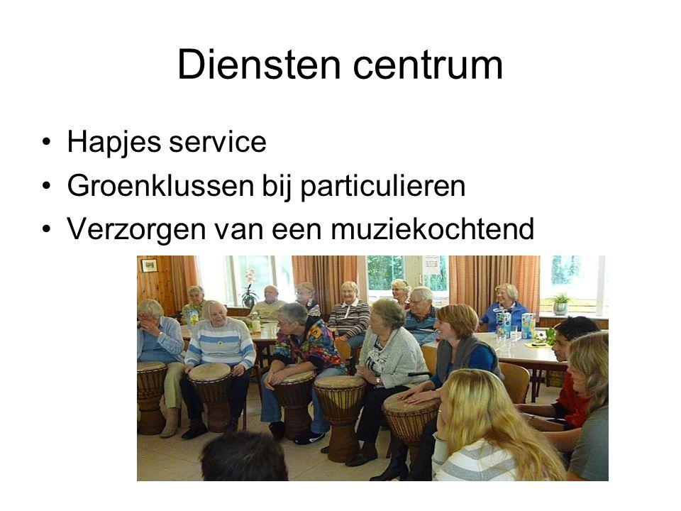 Diensten centrum Hapjes service Groenklussen bij particulieren