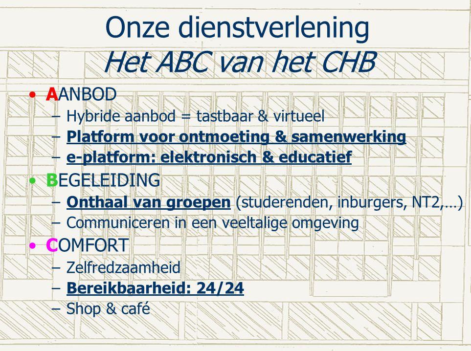 Onze dienstverlening Het ABC van het CHB