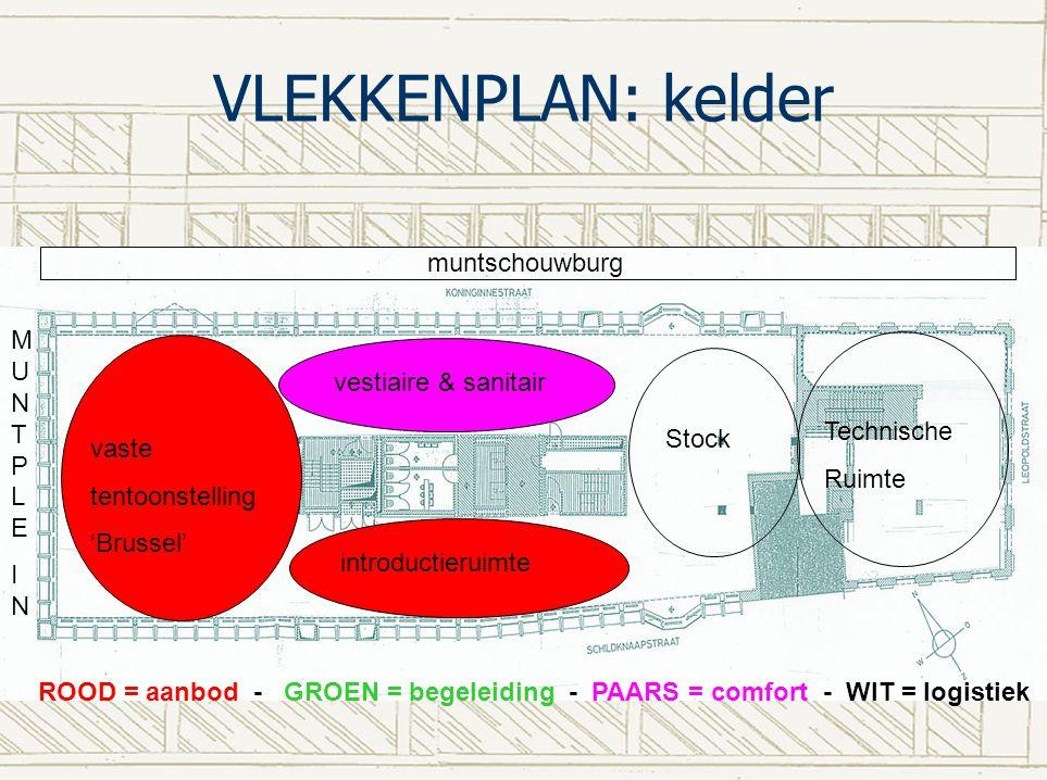 VLEKKENPLAN: kelder muntschouwburg MUNTPLE vestiaire & sanitair