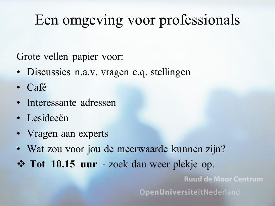 Een omgeving voor professionals