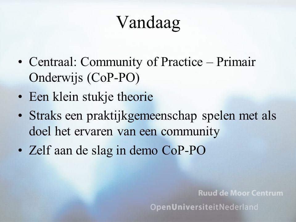 Vandaag Centraal: Community of Practice – Primair Onderwijs (CoP-PO)