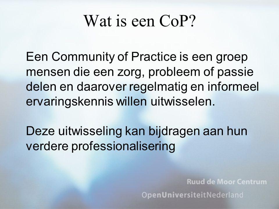 Wat is een CoP