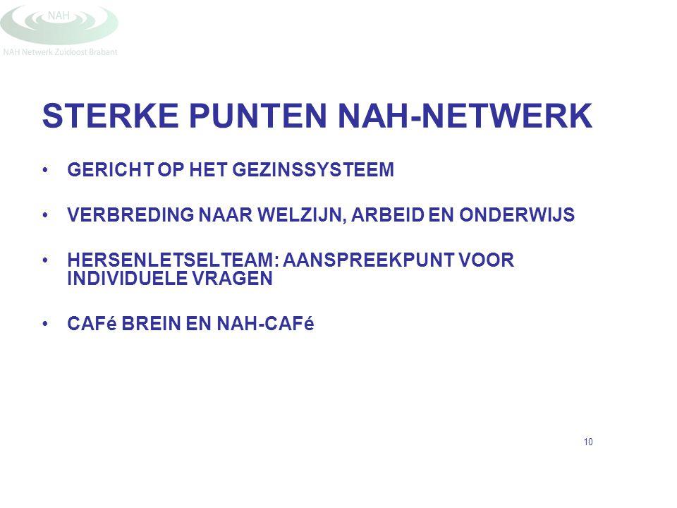 STERKE PUNTEN NAH-NETWERK