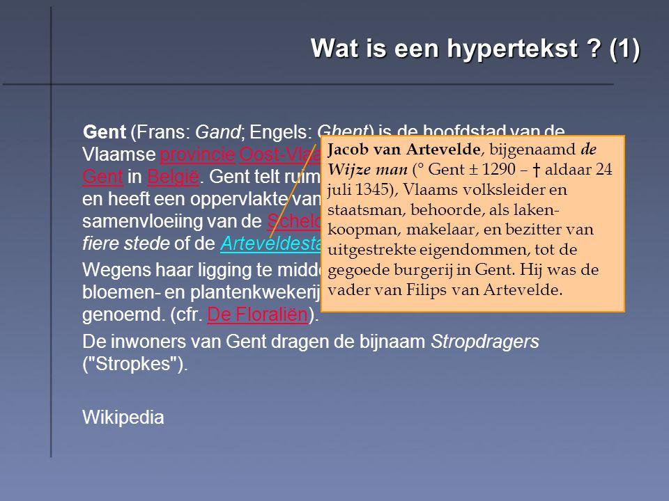 Wat is een hypertekst (1)