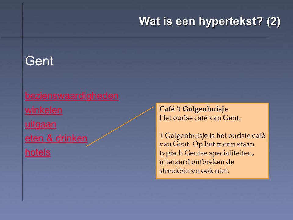 Wat is een hypertekst (2)